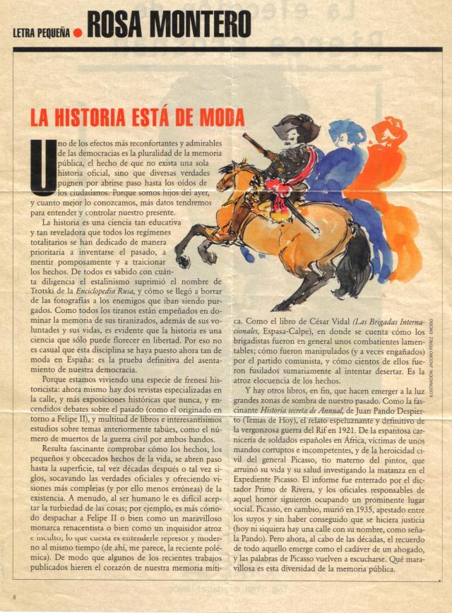 Artículo de Rosa Montero. El País (¿ 7/3/1.999 ?)