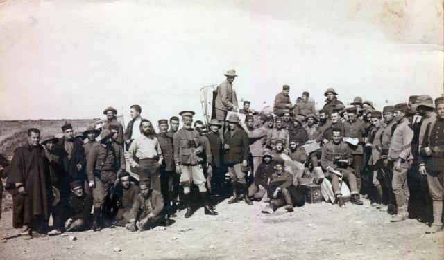 Soldados de la comarca de Barbastro en el Rif, 1.921 (Gentileza de Jesús Abizanda Franco)